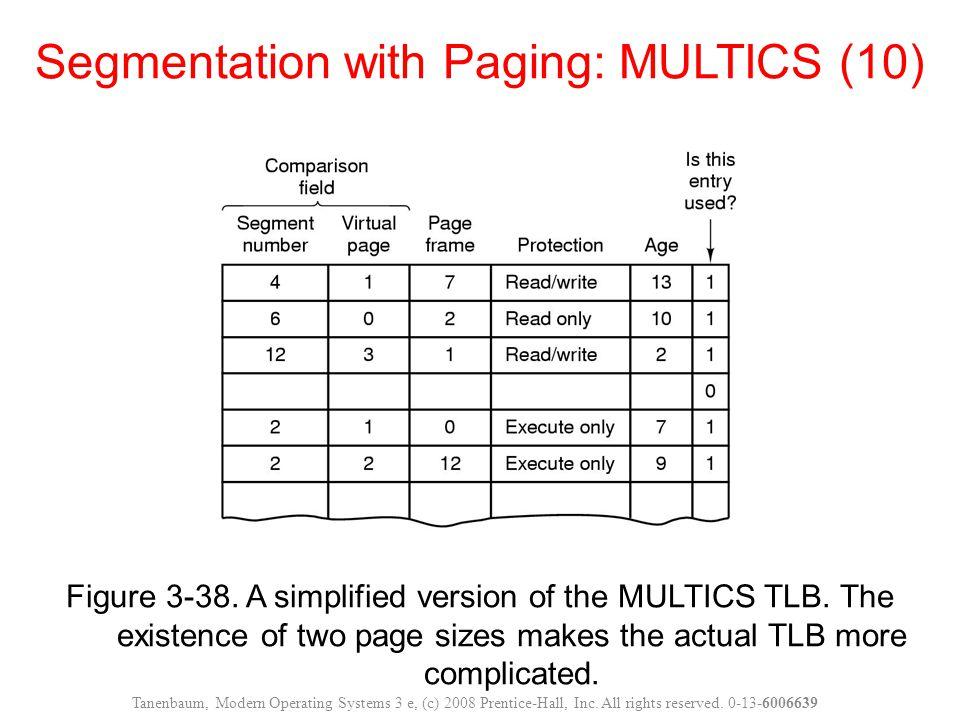 Segmentation with Paging: MULTICS (10)
