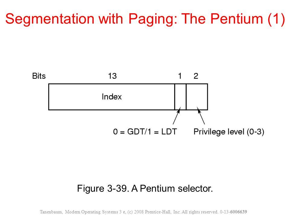 Segmentation with Paging: The Pentium (1)