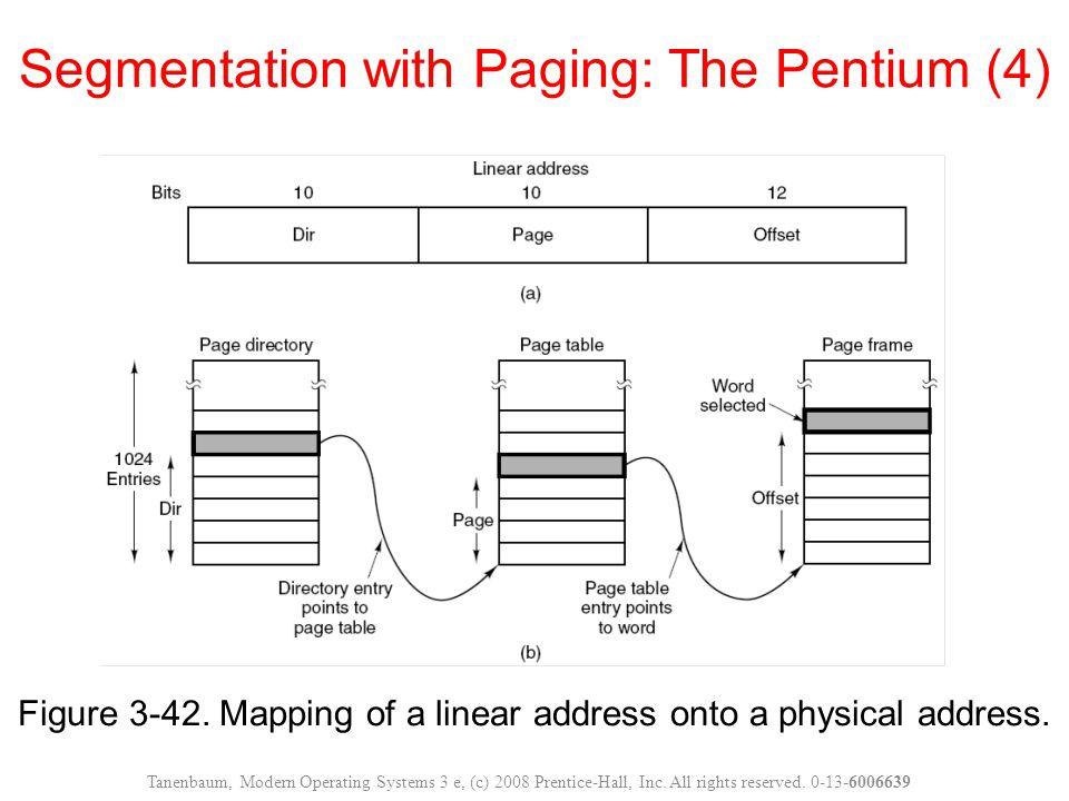 Segmentation with Paging: The Pentium (4)