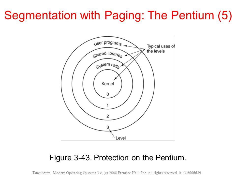 Segmentation with Paging: The Pentium (5)