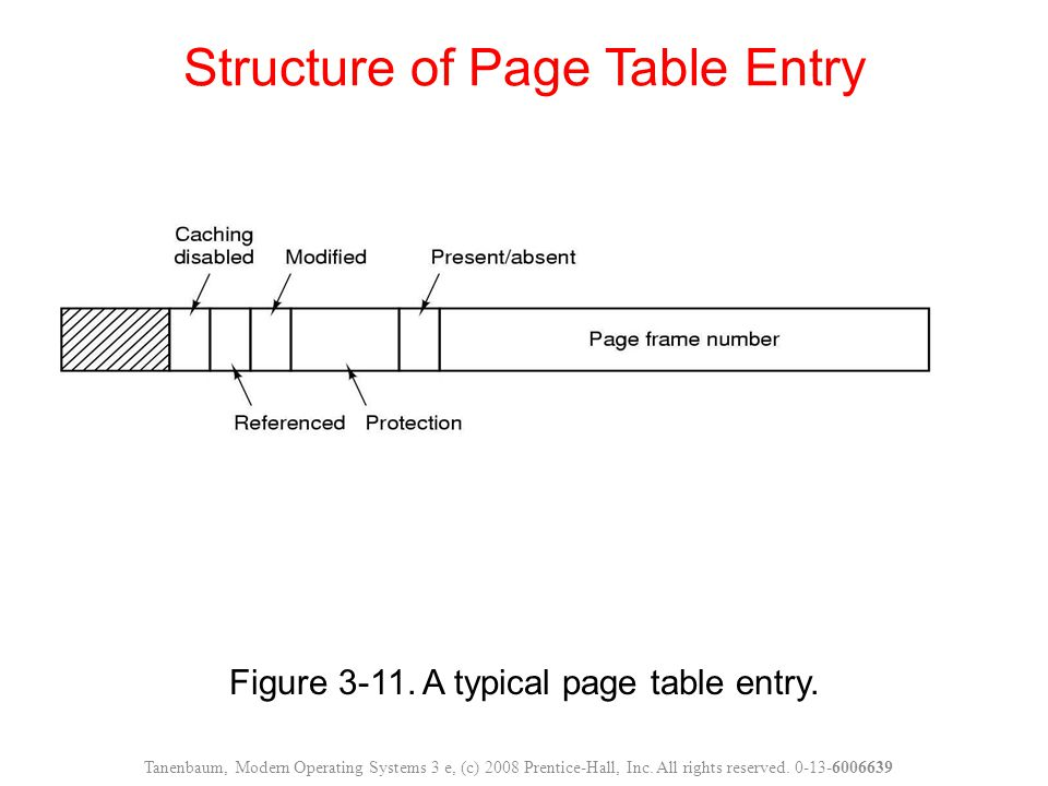 Structure of Page Table Entry