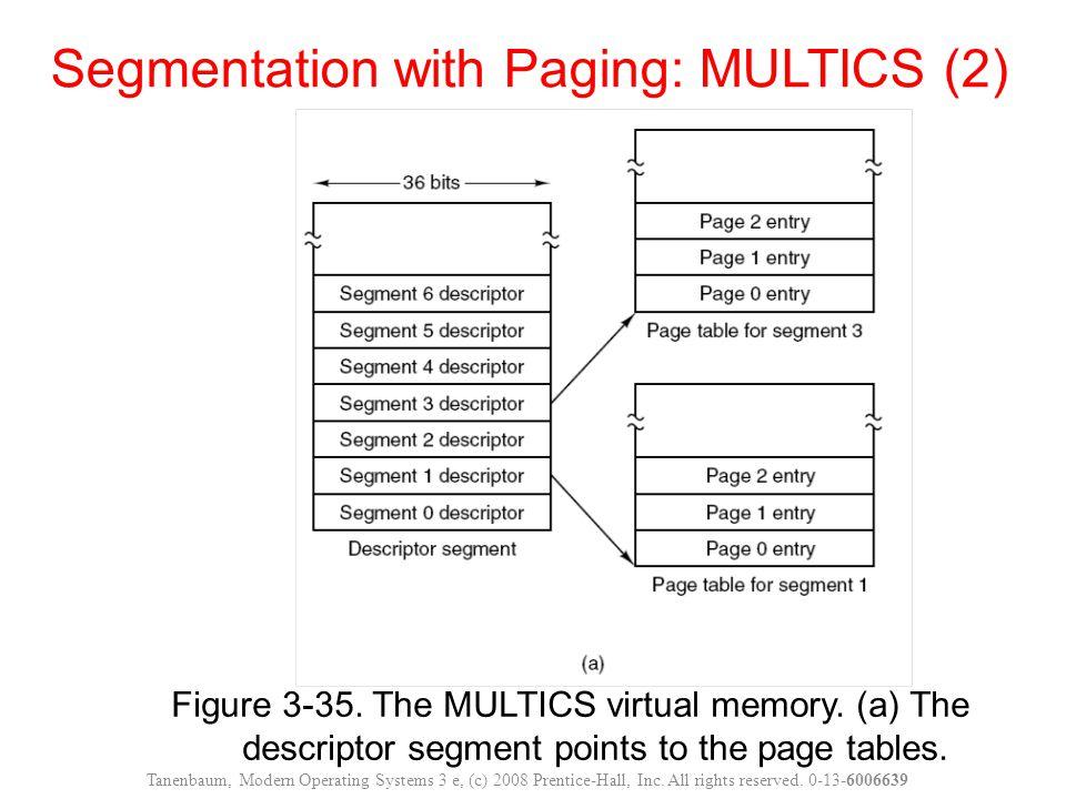 Segmentation with Paging: MULTICS (2)