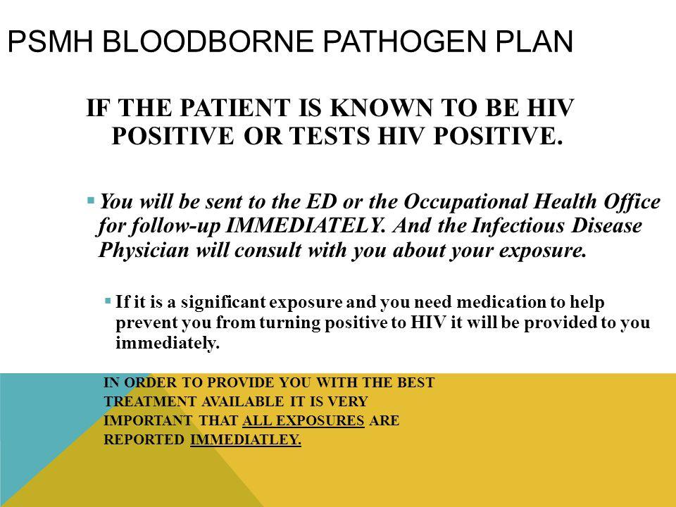 PSMH Bloodborne Pathogen Plan