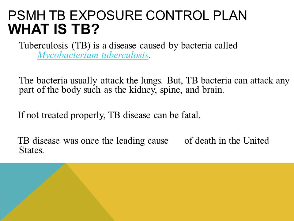 PSMH TB Exposure Control Plan
