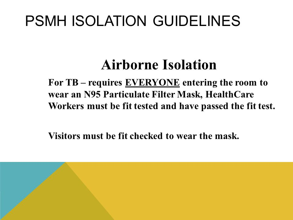 PSMH Isolation Guidelines