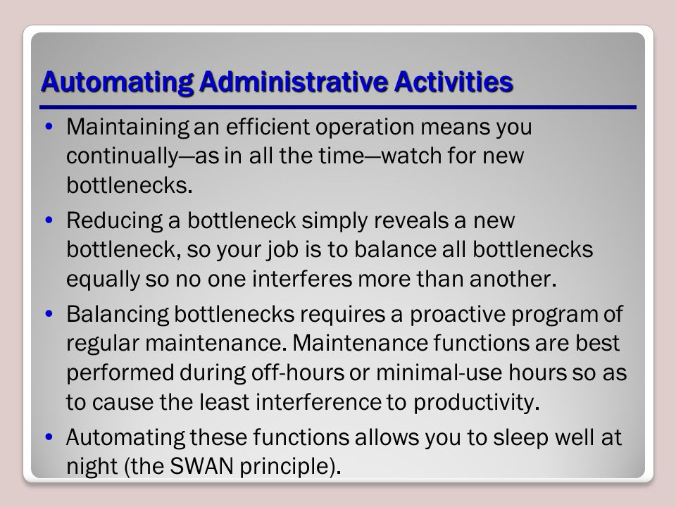 Automating Administrative Activities