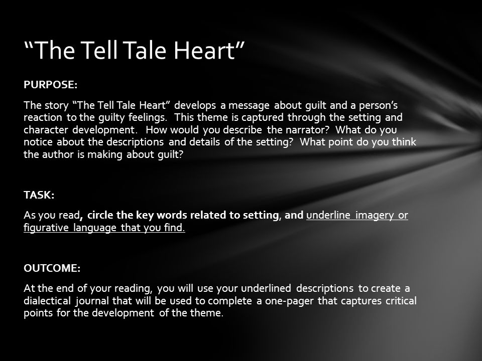tell tale heart not guilty