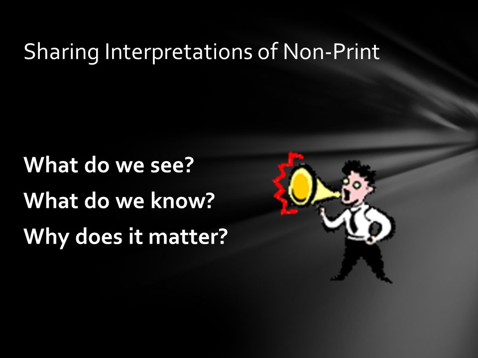 Sharing Interpretations of Non-Print