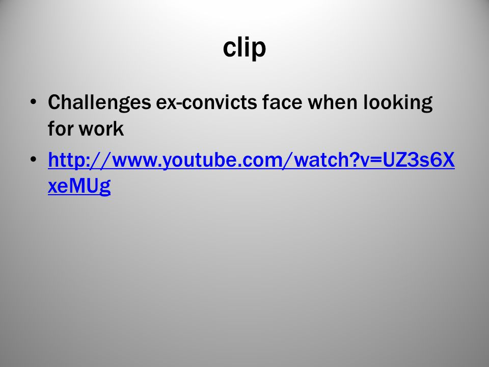 clip Challenges ex-convicts face when looking for work