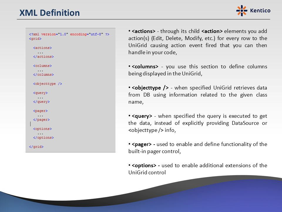 XML Definition