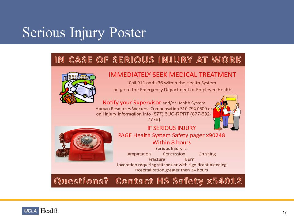 Serious Injury Poster