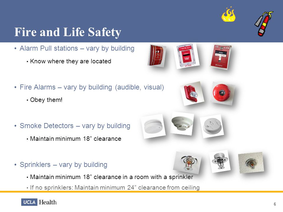 Fire and Life Safety Alarm Pull stations – vary by building