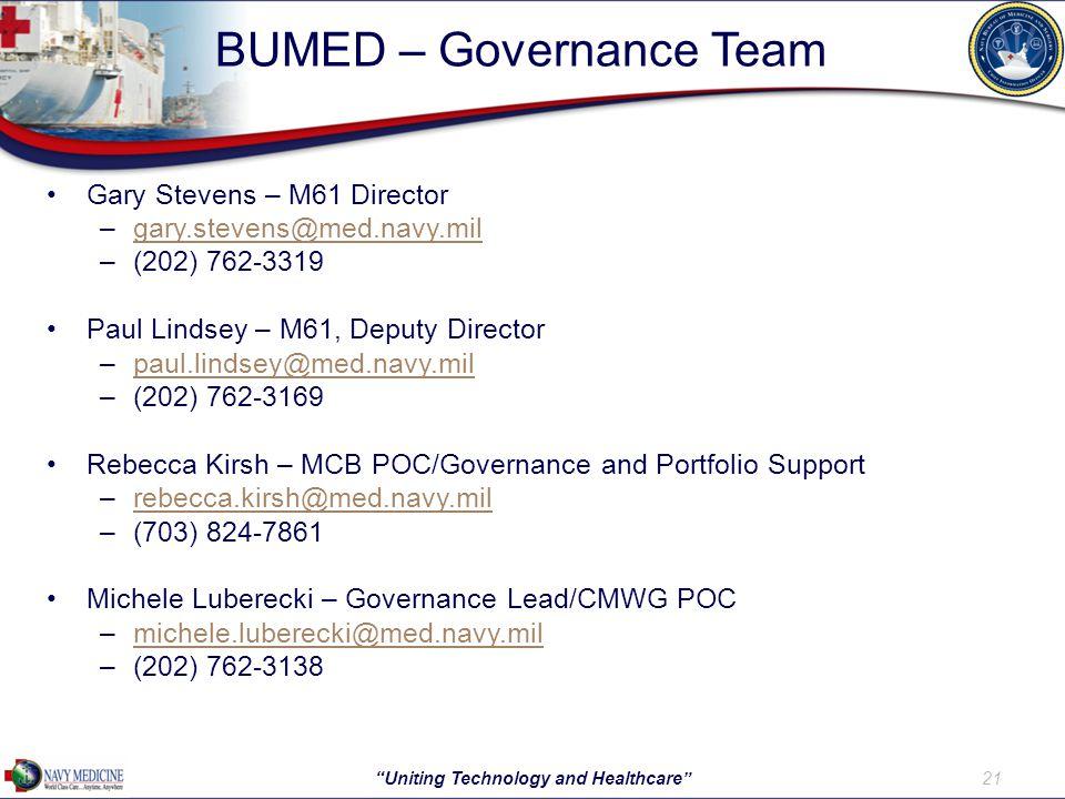 BUMED – Governance Team