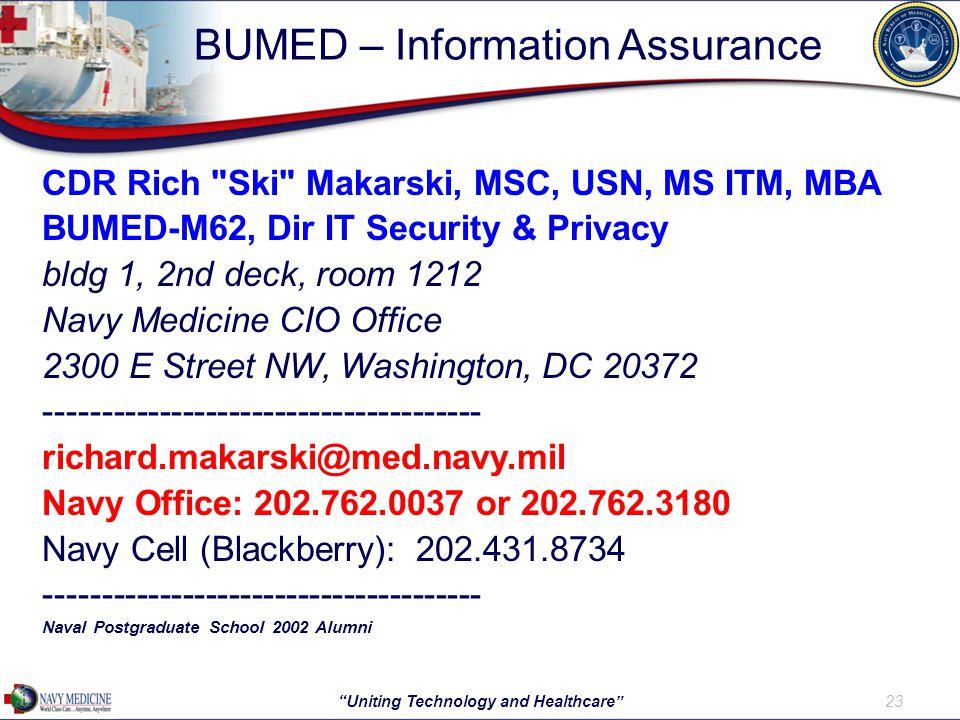BUMED – Information Assurance