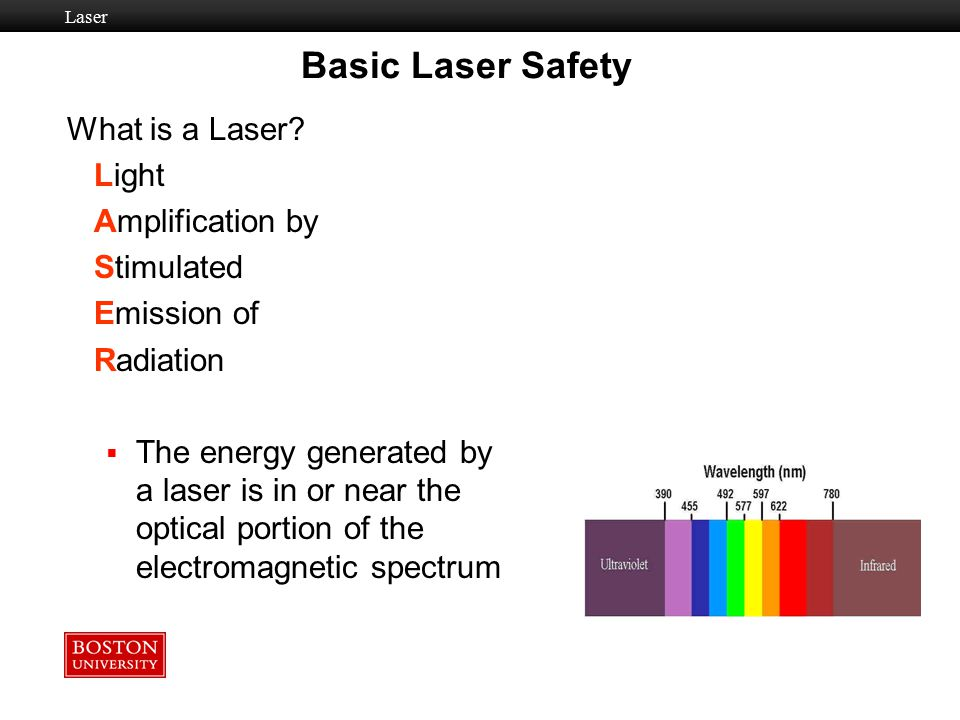Basic Laser Safety What is a Laser Light Amplification by Stimulated