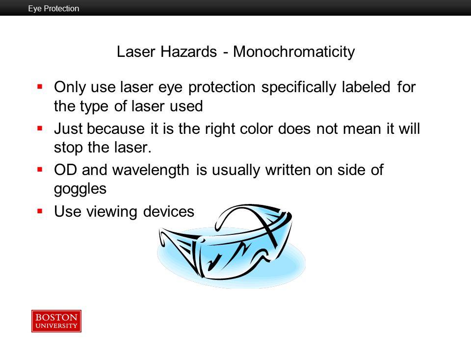 Laser Hazards - Monochromaticity