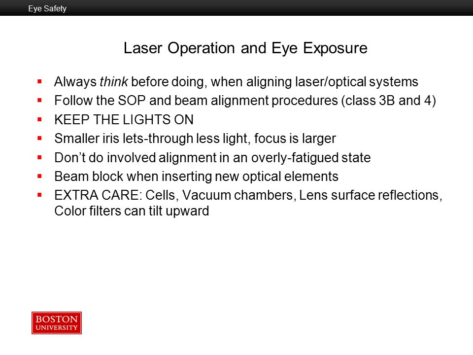 Laser Operation and Eye Exposure