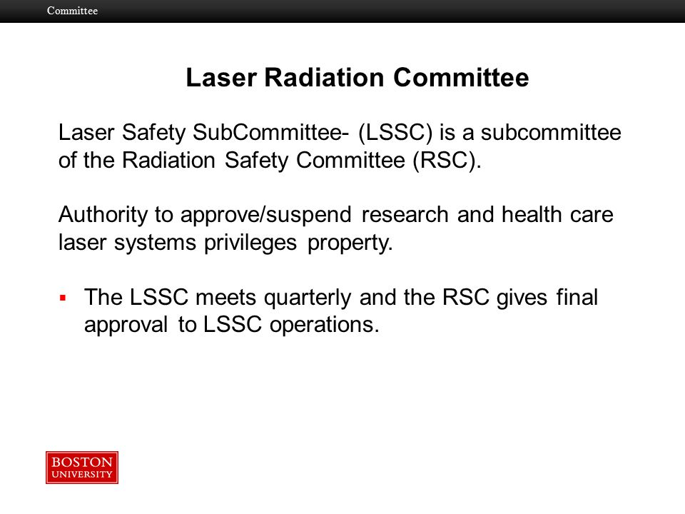 Laser Radiation Committee