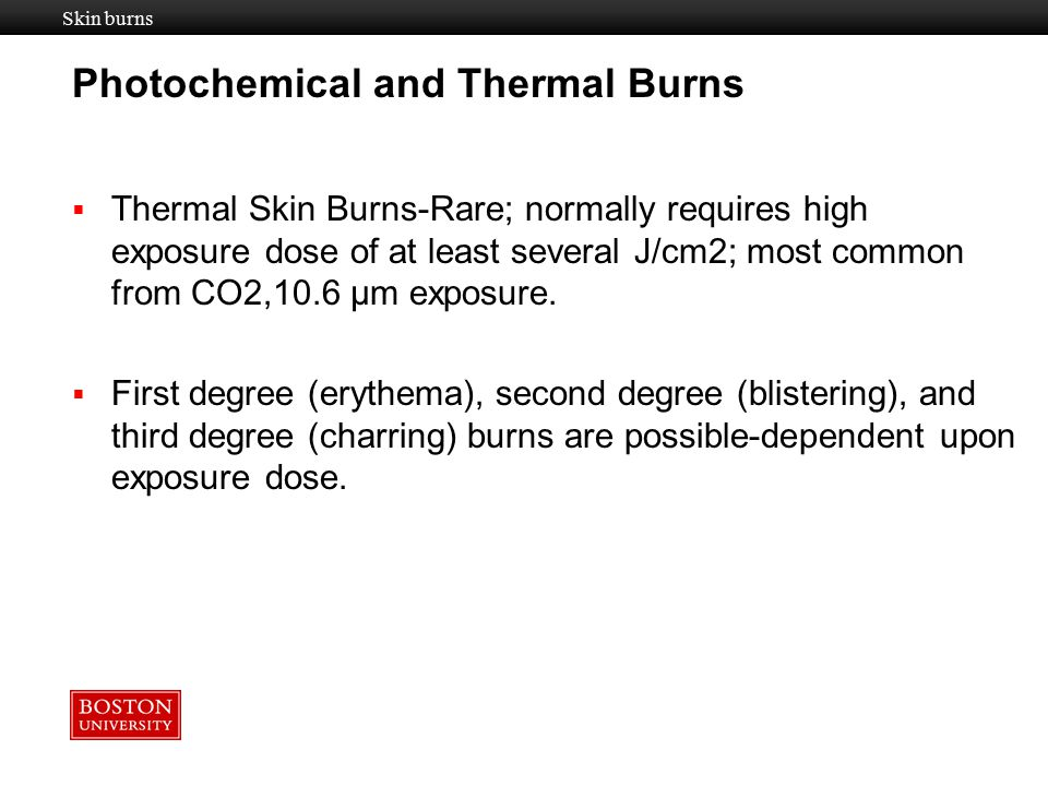 Photochemical and Thermal Burns
