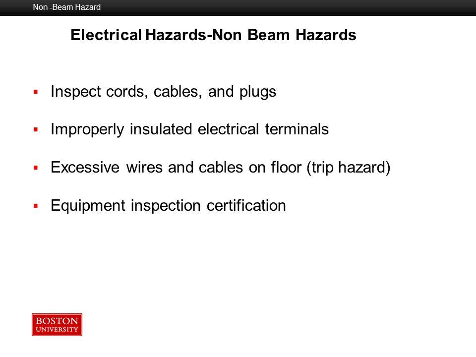 Electrical Hazards-Non Beam Hazards