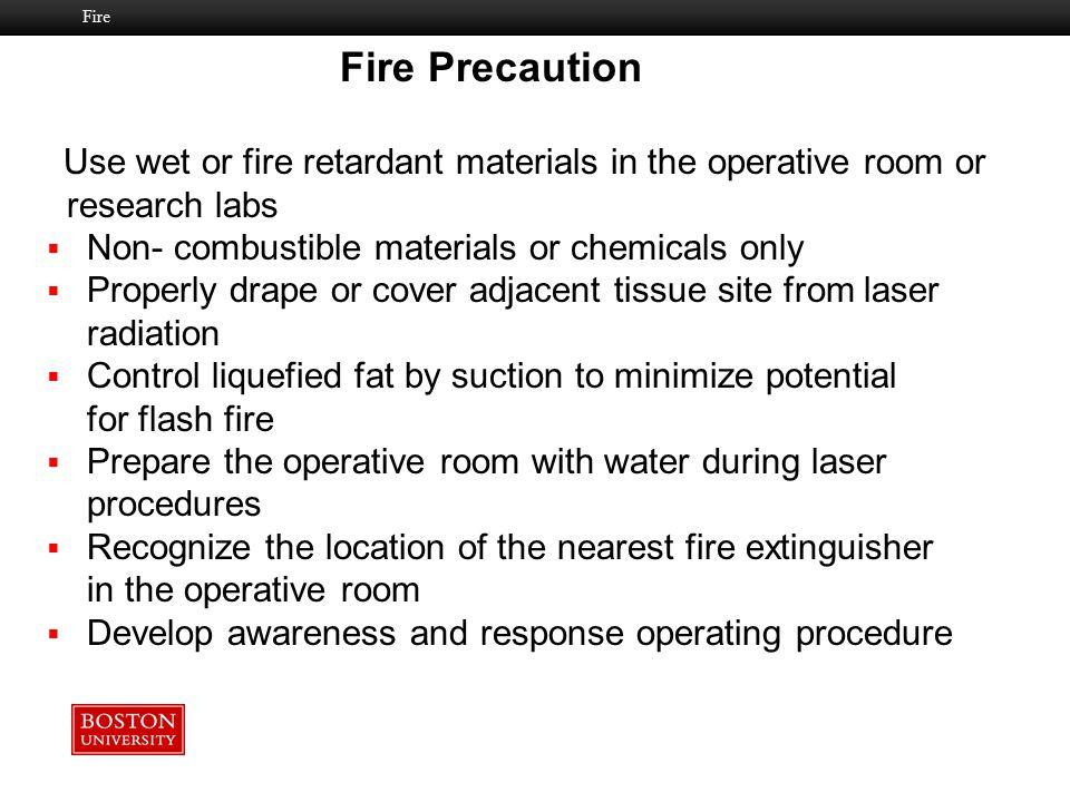 Fire Precaution research labs