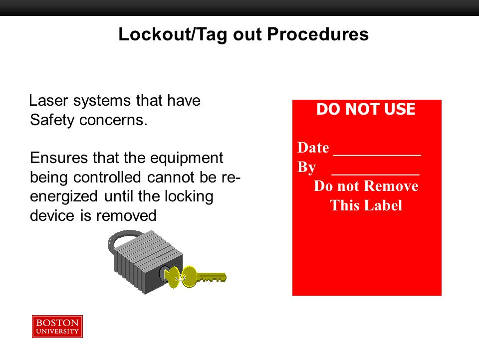 Lockout/Tag out Procedures