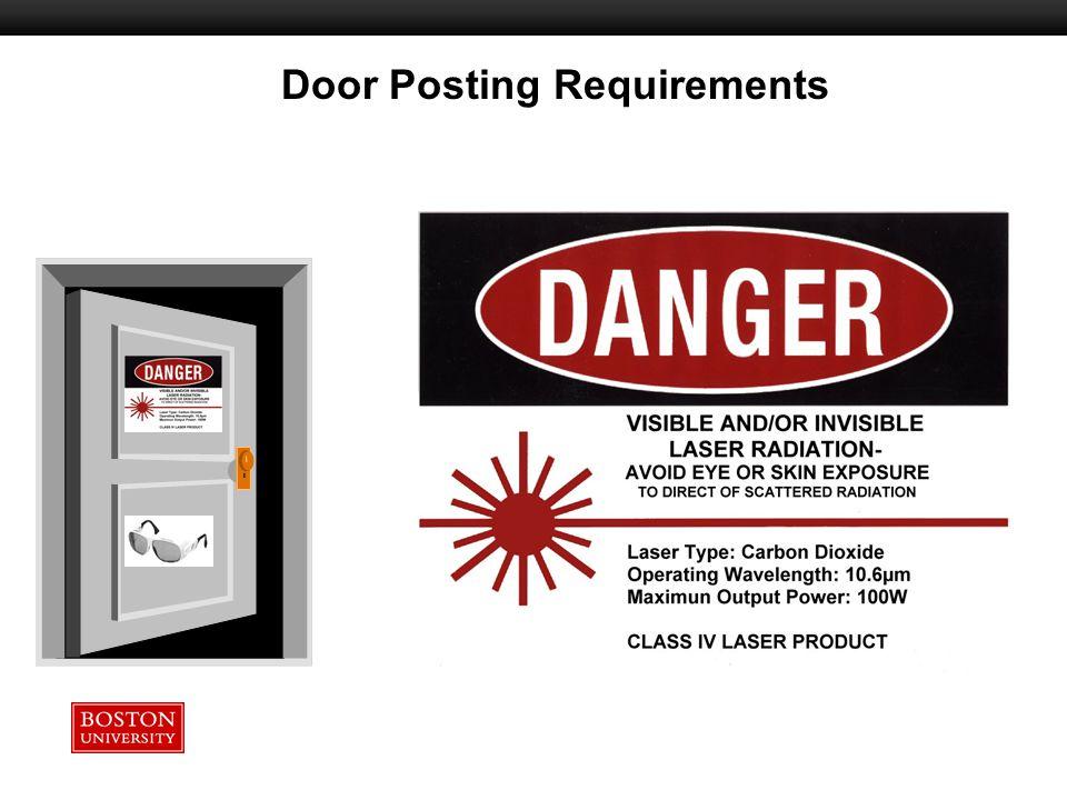 Door Posting Requirements