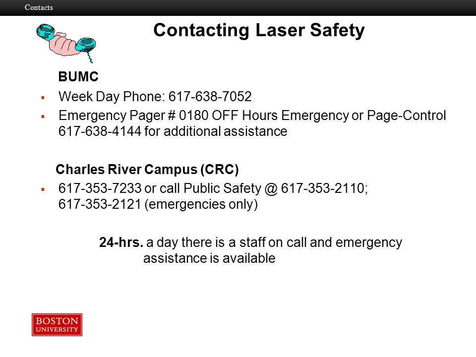 Contacting Laser Safety