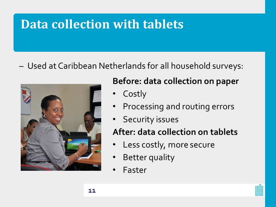 Data collection with tablets