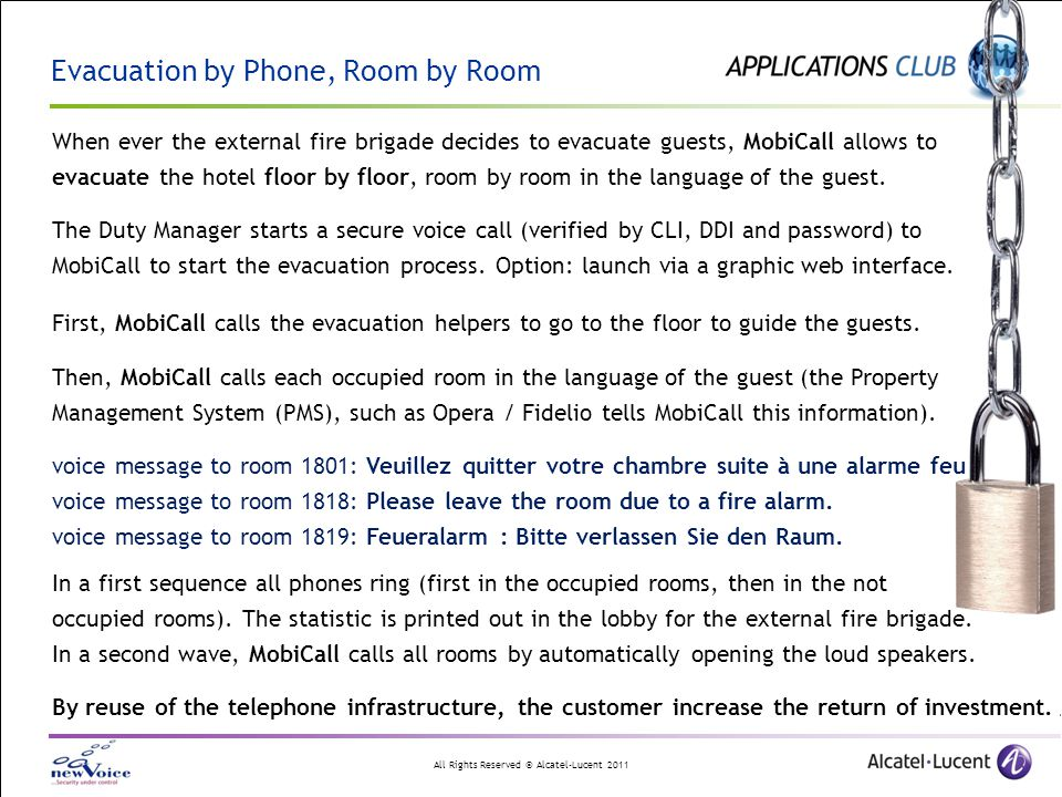 Evacuation by Phone, Room by Room