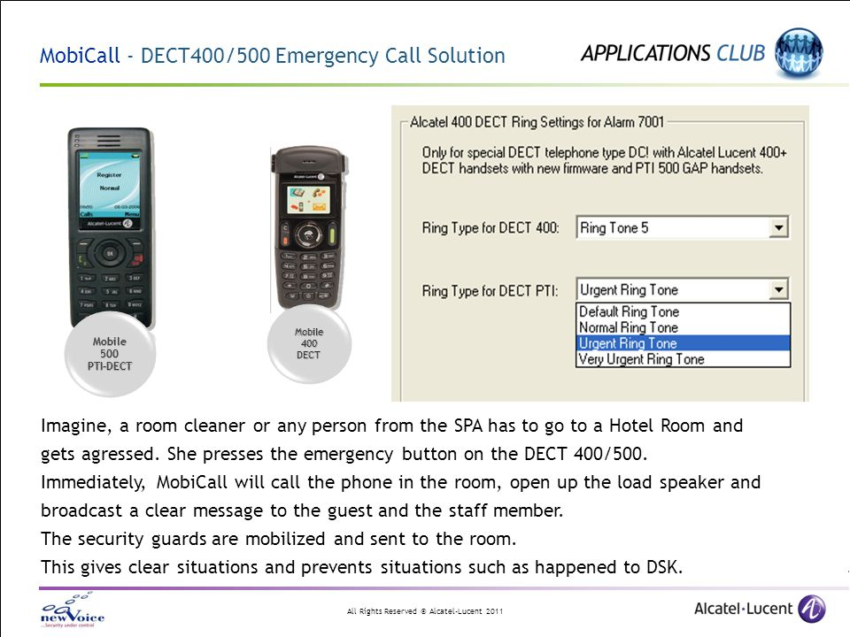 MobiCall - DECT400/500 Emergency Call Solution