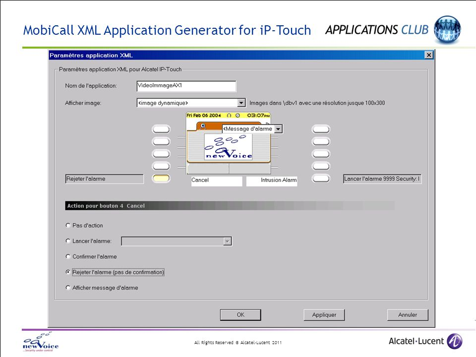 MobiCall XML Application Generator for iP-Touch