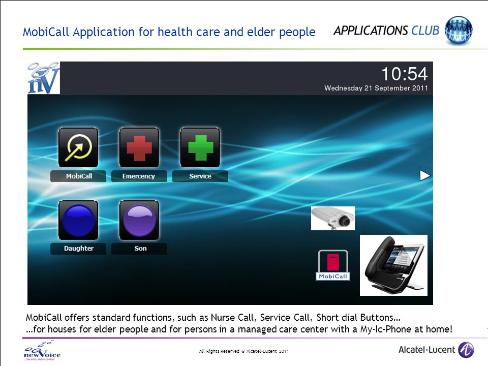 MobiCall Application for health care and elder people