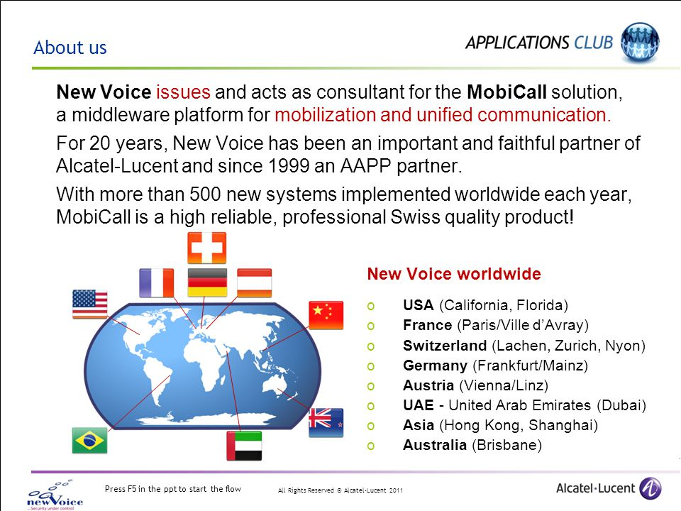 About us New Voice issues and acts as consultant for the MobiCall solution, a middleware platform for mobilization and unified communication.
