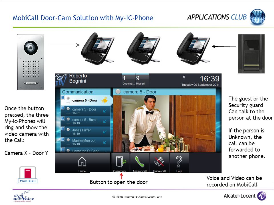 MobiCall Door-Cam Solution with My-IC-Phone