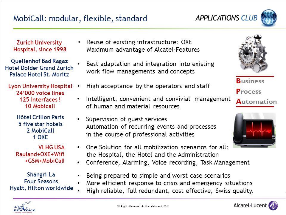 MobiCall: modular, flexible, standard