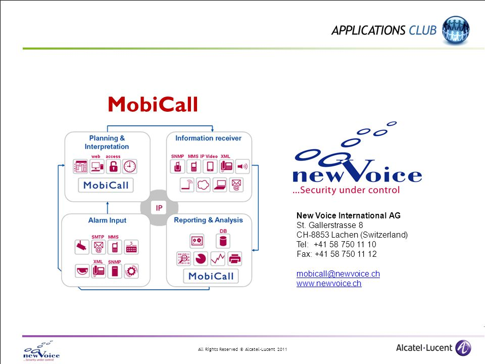 MobiCall New Voice International AG St. Gallerstrasse 8