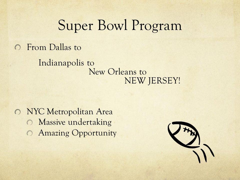 Super Bowl Program From Dallas to