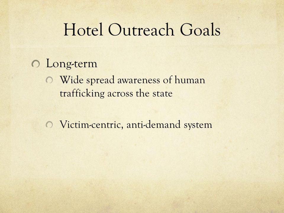 Hotel Outreach Goals Long-term