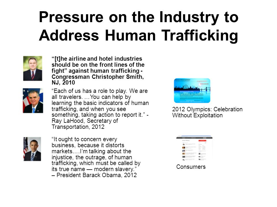 Pressure on the Industry to Address Human Trafficking