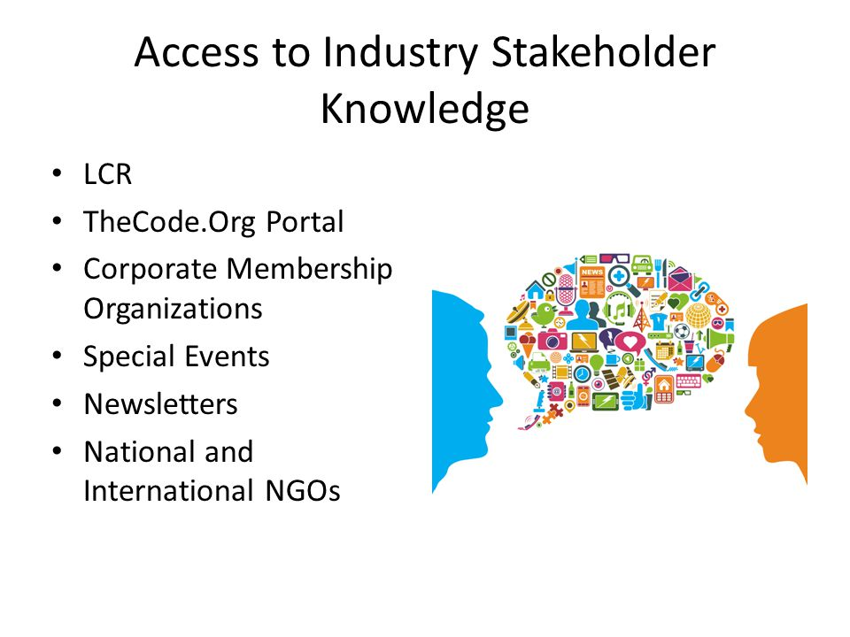 Access to Industry Stakeholder Knowledge