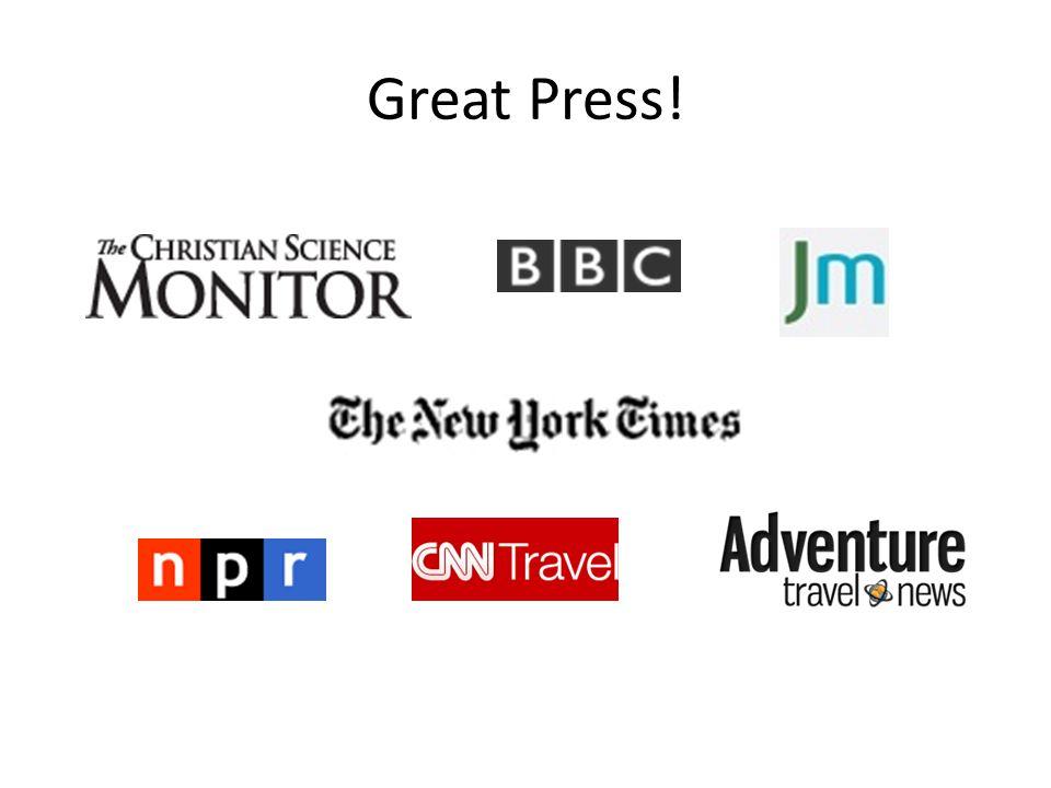 Great Press!