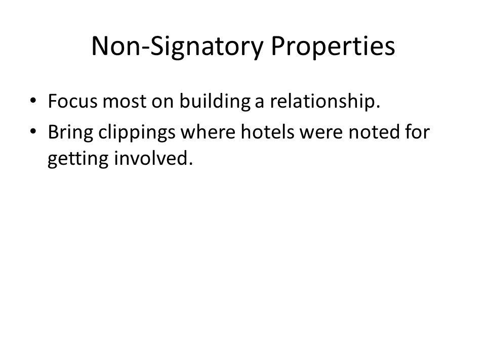 Non-Signatory Properties