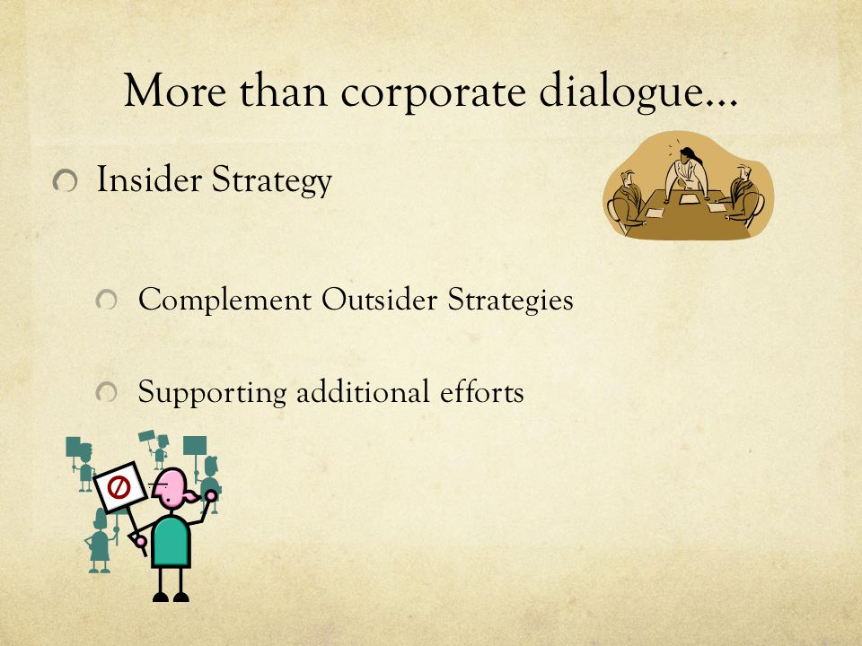 More than corporate dialogue…