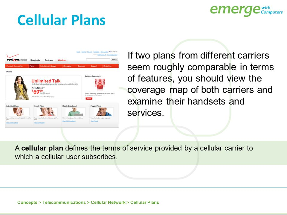 Cellular Plans