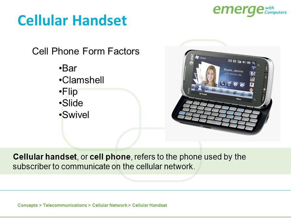 Cellular Handset Cell Phone Form Factors Bar Clamshell Flip Slide