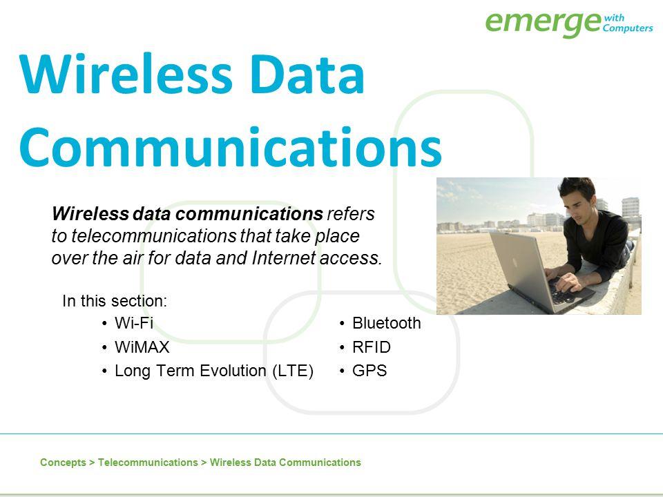 Wireless Data Communications