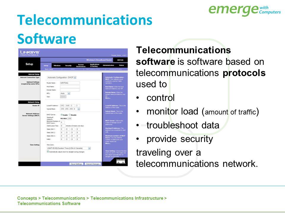 Telecommunications Software