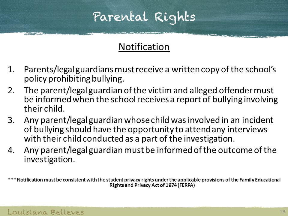 Parental Rights Notification