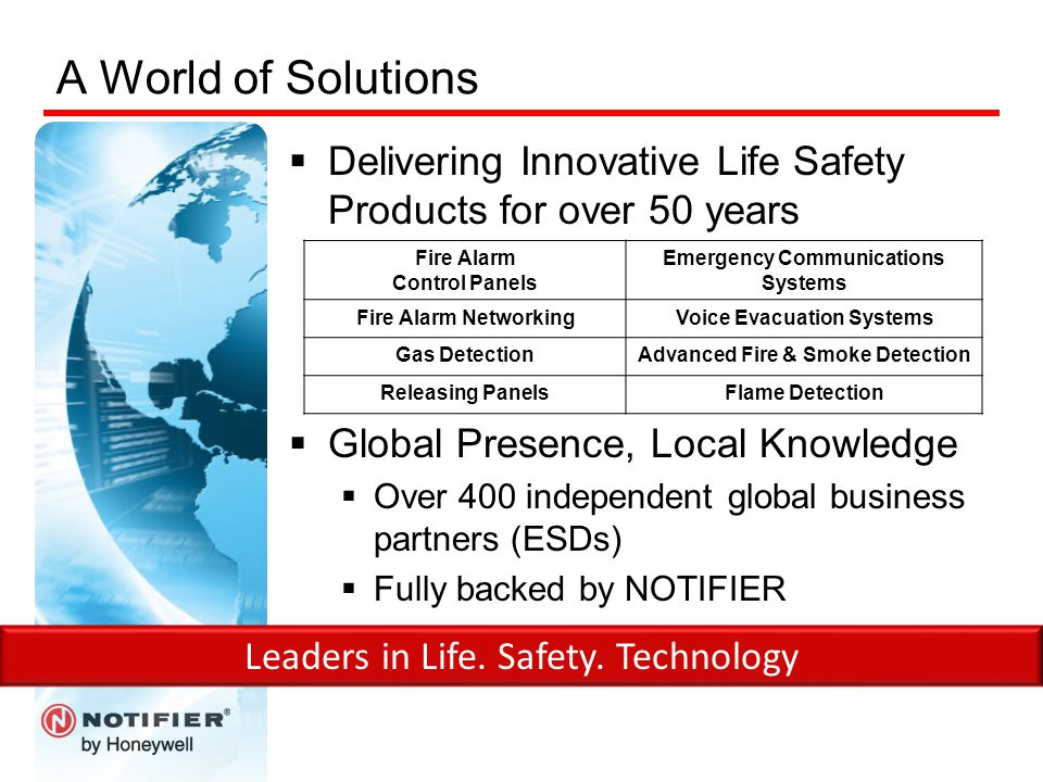 A World of Solutions Delivering Innovative Life Safety Products for over 50 years. Global Presence, Local Knowledge.